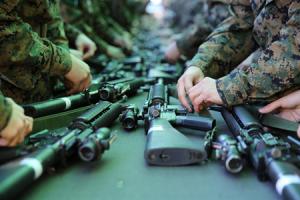 Marine with M16's