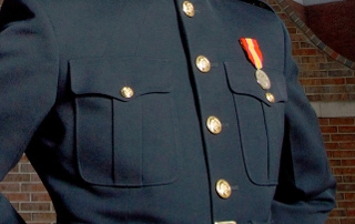 Marine Officer in Dress Blue Uniform