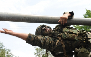 Candidate On An LRC Obstacle At Officer Candidates School