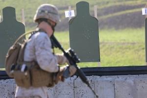 Marine At Range With Rifle