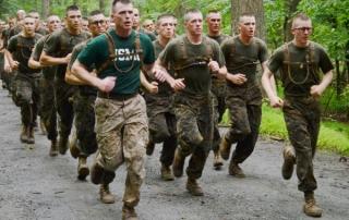 Platoon Running At Marine OCS