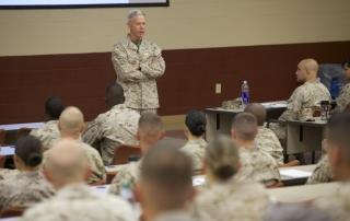Commandant Speaking at TBS