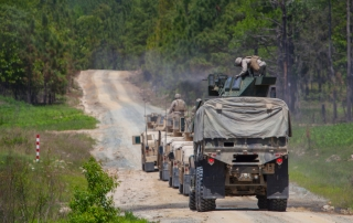 Logistics Regiment carrying out a training exercise