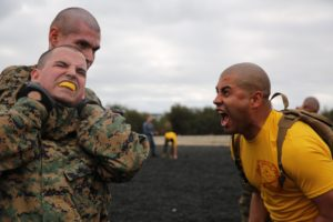 Marine choking out another Marine